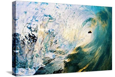 Hawaii, Maui, Makena, Beautiful Blue Wave Breaking at the Beach-Design Pics Inc-Stretched Canvas Print