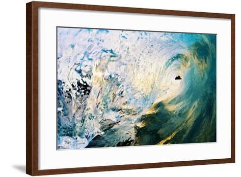 Hawaii, Maui, Makena, Beautiful Blue Wave Breaking at the Beach-Design Pics Inc-Framed Art Print