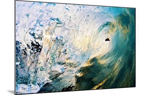 Hawaii, Maui, Makena, Beautiful Blue Wave Breaking at the Beach-Design Pics Inc-Mounted Photographic Print