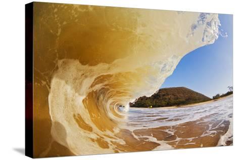 Hawaii, Maui, Makena, Beautiful Wave Breaking at the Beach-Design Pics Inc-Stretched Canvas Print