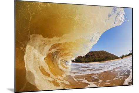 Hawaii, Maui, Makena, Beautiful Wave Breaking at the Beach-Design Pics Inc-Mounted Photographic Print