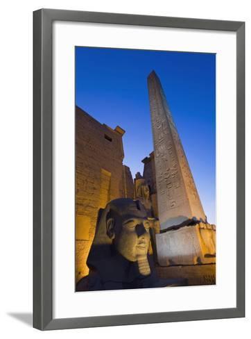 Large Pharaoh's Head Statue and Obelisk-Design Pics Inc-Framed Art Print