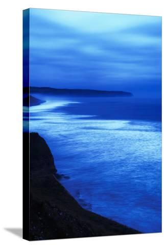 Sea at Dusk, Whitby,North Yorkshire,Uk-Design Pics Inc-Stretched Canvas Print