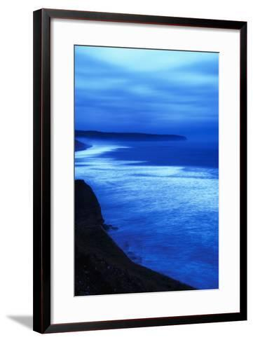 Sea at Dusk, Whitby,North Yorkshire,Uk-Design Pics Inc-Framed Art Print