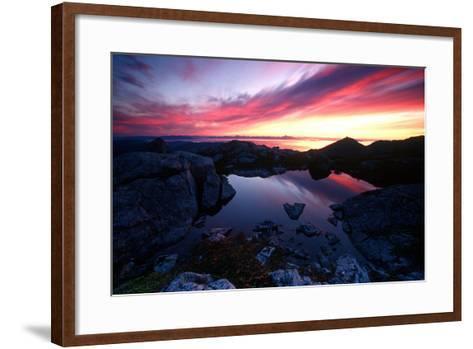 Sunrise over Pond Short Arm Peak Prince of Wales Is Ak Se Summer-Design Pics Inc-Framed Art Print