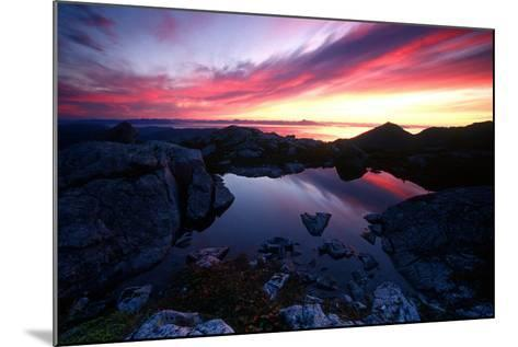 Sunrise over Pond Short Arm Peak Prince of Wales Is Ak Se Summer-Design Pics Inc-Mounted Photographic Print