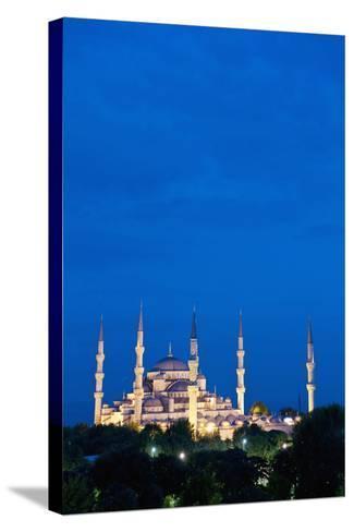 Sultanahmet or Blue Mosque at Dusk-Design Pics Inc-Stretched Canvas Print