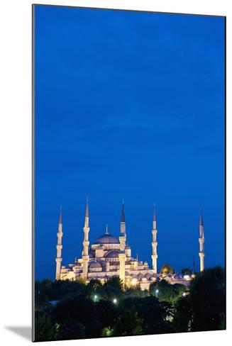 Sultanahmet or Blue Mosque at Dusk-Design Pics Inc-Mounted Photographic Print