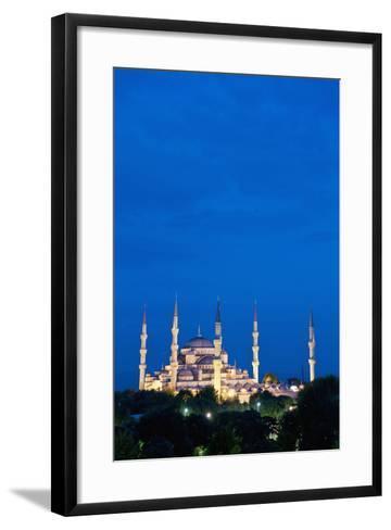 Sultanahmet or Blue Mosque at Dusk-Design Pics Inc-Framed Art Print