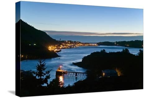 St.Paul Boat Harbor in Morning Twilight Kodiak Alaska Southwest Autumn-Design Pics Inc-Stretched Canvas Print