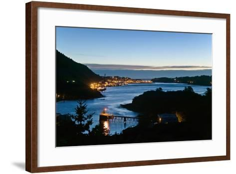St.Paul Boat Harbor in Morning Twilight Kodiak Alaska Southwest Autumn-Design Pics Inc-Framed Art Print