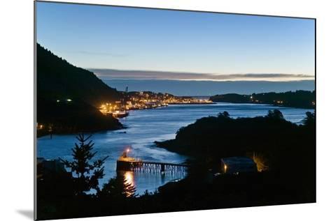 St.Paul Boat Harbor in Morning Twilight Kodiak Alaska Southwest Autumn-Design Pics Inc-Mounted Photographic Print