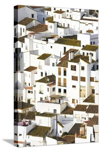 Elevated View of Moorish Houses; Casares, Malaga Province, Spain-Design Pics Inc-Stretched Canvas Print