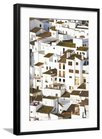 Elevated View of Moorish Houses; Casares, Malaga Province, Spain-Design Pics Inc-Framed Art Print