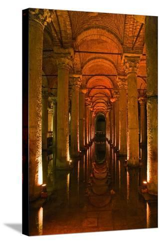 Basilica Cistern, Istanbul, Turkey; Ancient Underground Cistern-Design Pics Inc-Stretched Canvas Print