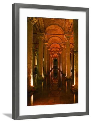 Basilica Cistern, Istanbul, Turkey; Ancient Underground Cistern-Design Pics Inc-Framed Art Print