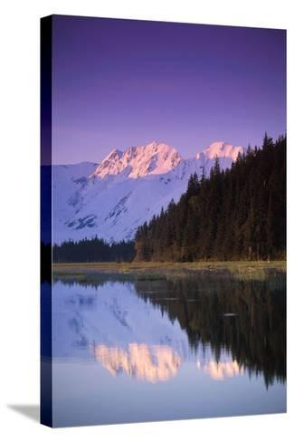 Kenai Mtns Reflected in Lake Southcentral Ak Summer Scenic-Design Pics Inc-Stretched Canvas Print