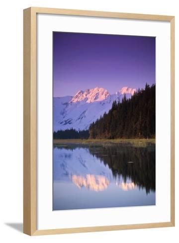 Kenai Mtns Reflected in Lake Southcentral Ak Summer Scenic-Design Pics Inc-Framed Art Print