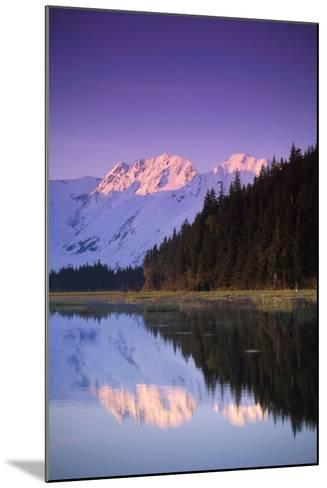 Kenai Mtns Reflected in Lake Southcentral Ak Summer Scenic-Design Pics Inc-Mounted Photographic Print