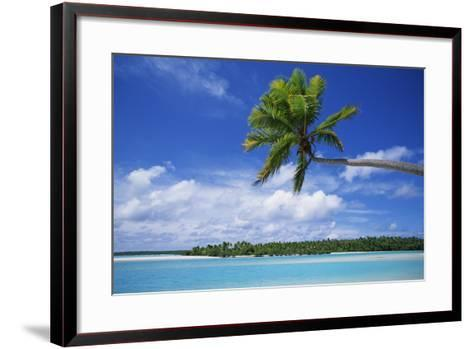 View of Deserted Beach from Tapuae Tai Island-Design Pics Inc-Framed Art Print