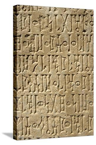 Details of Sabaean Inscriptions at the Awan Temple-Design Pics Inc-Stretched Canvas Print