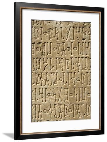 Details of Sabaean Inscriptions at the Awan Temple-Design Pics Inc-Framed Art Print