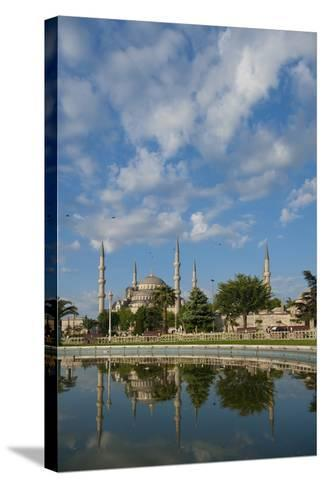Looking across Pond to Sultanahmet or Blue Mosque-Design Pics Inc-Stretched Canvas Print