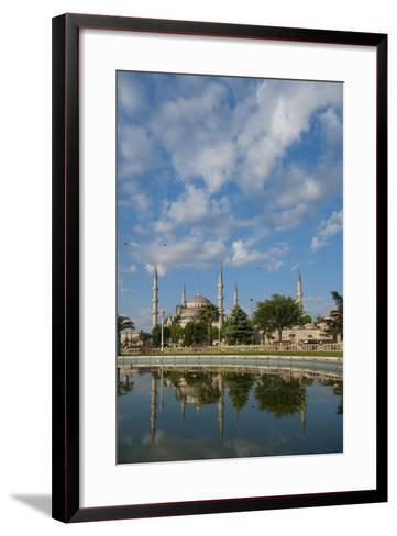 Looking across Pond to Sultanahmet or Blue Mosque-Design Pics Inc-Framed Art Print