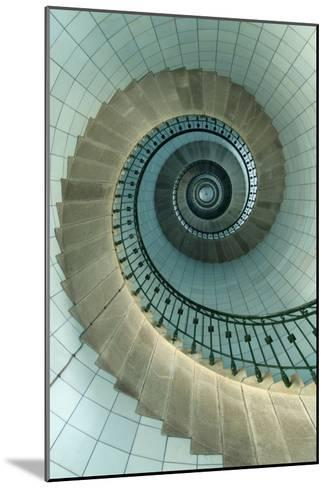 Looking Up the Spiral Staircase of the Lighthouse-Design Pics Inc-Mounted Photographic Print
