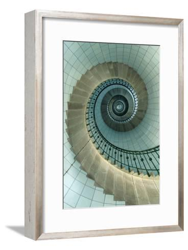 Looking Up the Spiral Staircase of the Lighthouse-Design Pics Inc-Framed Art Print