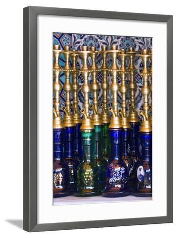 Istanbul, Turkey; Nargileh Water Pipes for Sale-Design Pics Inc-Framed Art Print
