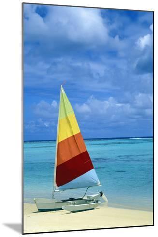 Catamaran on Tropical Beach-Design Pics Inc-Mounted Photographic Print