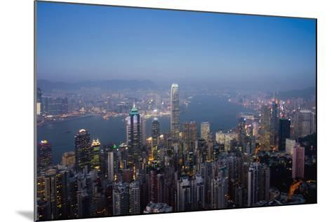 Cityscape with Harbour at Dusk-Design Pics Inc-Mounted Photographic Print