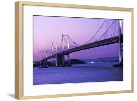 Seto Ohashi Bridge at Dusk-Design Pics Inc-Framed Art Print