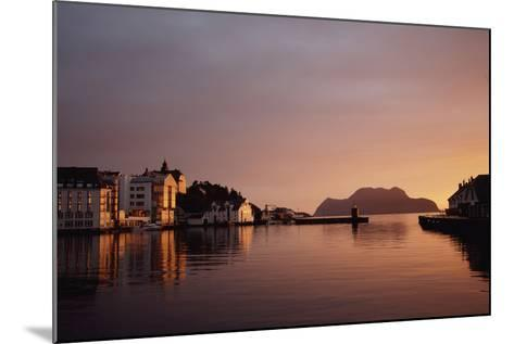 Skyline of Town at Dusk-Design Pics Inc-Mounted Photographic Print