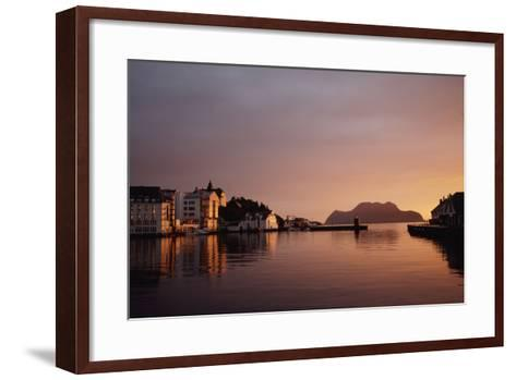 Skyline of Town at Dusk-Design Pics Inc-Framed Art Print
