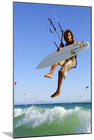 Young Man Kite Surfing; Costa De La Luz,Andalusia,Spain-Design Pics Inc-Mounted Photographic Print