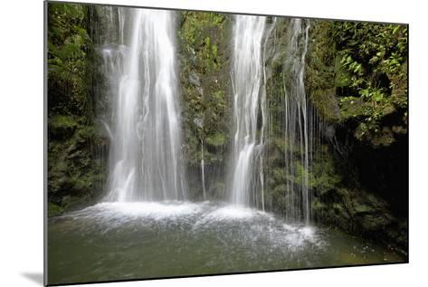 Hawaii, Maui, Makamakaole Gulch, Waihee Ridge Trail, Waterfall and Pond-Design Pics Inc-Mounted Photographic Print