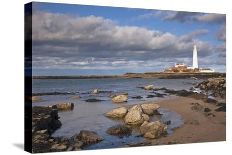 Lighthouse Scenic, Northumberland, England-Design Pics Inc-Stretched Canvas Print