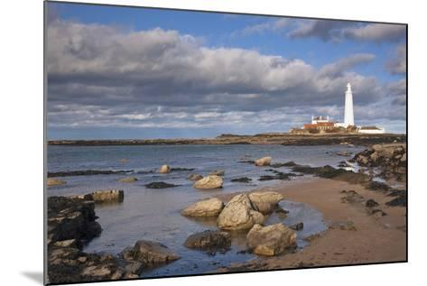 Lighthouse Scenic, Northumberland, England-Design Pics Inc-Mounted Photographic Print