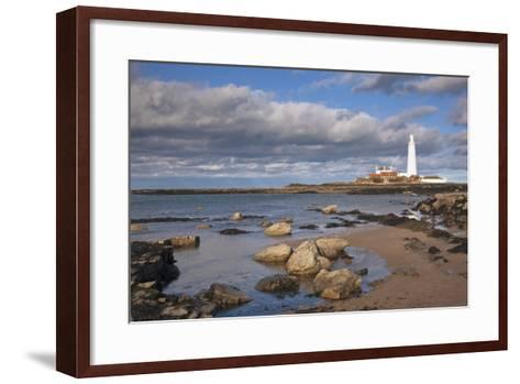Lighthouse Scenic, Northumberland, England-Design Pics Inc-Framed Art Print