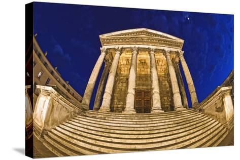 Romanesque Temple; Maison Caree, Nimes, France-Design Pics Inc-Stretched Canvas Print