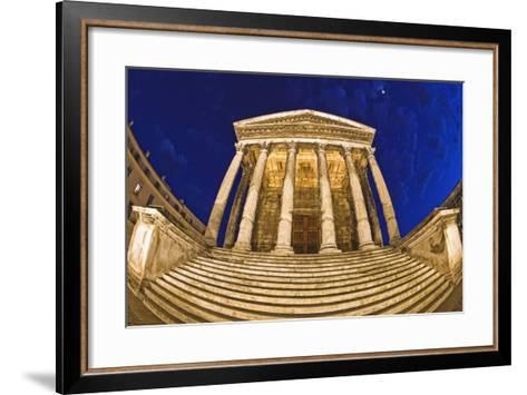 Romanesque Temple; Maison Caree, Nimes, France-Design Pics Inc-Framed Art Print