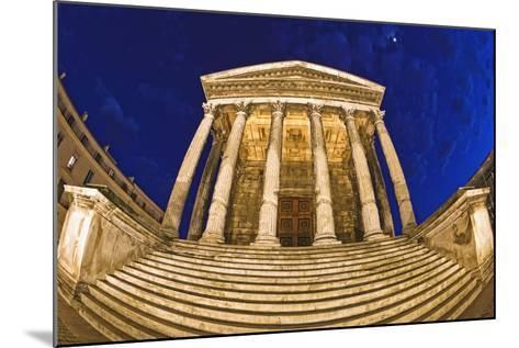 Romanesque Temple; Maison Caree, Nimes, France-Design Pics Inc-Mounted Photographic Print