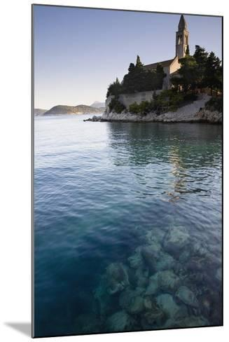 View across Water at a Monastery on the Island of Lopud-Design Pics Inc-Mounted Photographic Print