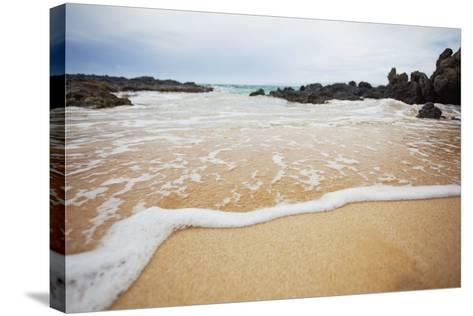 Hawaii, Maui, Makena, a Closeup of the Ocean over Sand-Design Pics Inc-Stretched Canvas Print