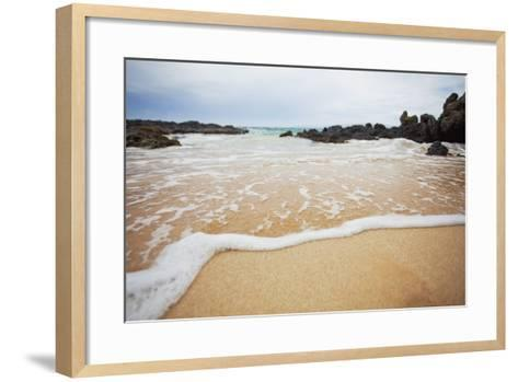 Hawaii, Maui, Makena, a Closeup of the Ocean over Sand-Design Pics Inc-Framed Art Print