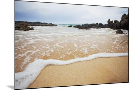 Hawaii, Maui, Makena, a Closeup of the Ocean over Sand-Design Pics Inc-Mounted Photographic Print