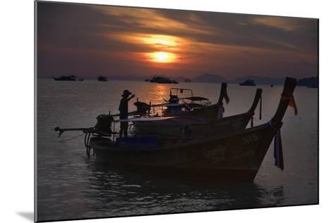 Boats at Sunset, Krabi, Thailand-Design Pics Inc-Mounted Photographic Print