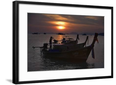 Boats at Sunset, Krabi, Thailand-Design Pics Inc-Framed Art Print